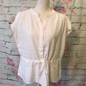 Cato NWOT silky tie front blouse